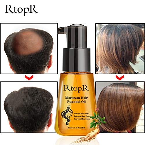 Ginseng Huile Essentielle de Cheveux, Sérum de croissance des cheveux,Formule...