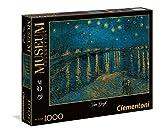 Clementoni - 39344 - Museum Collection Puzzle - Van Gogh, Notte Stellata sul Rodano - 1000 Pezzi