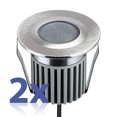 Led Einbauleuchte Von Parlat 1 Power-led Wei Aluminium Wasserdicht 12 Volt Ac 2 Stck Packung von LEDs Com GmbH