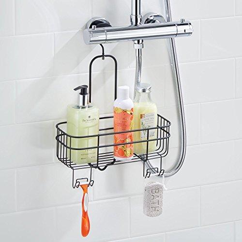 Mdesign comodo portaoggetti doccia senza foratura - Portasapone doccia senza forare ...