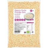 PINK SUN Avena Integral Orgánica Cereales 3kg Bolsa grande Harina de Avena Copos - Organic Porridge Oats Oatmeal