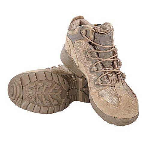 Amazmall Armee Taktische Komfort Wüste Leder Kampf Militär Stiefel Khaki