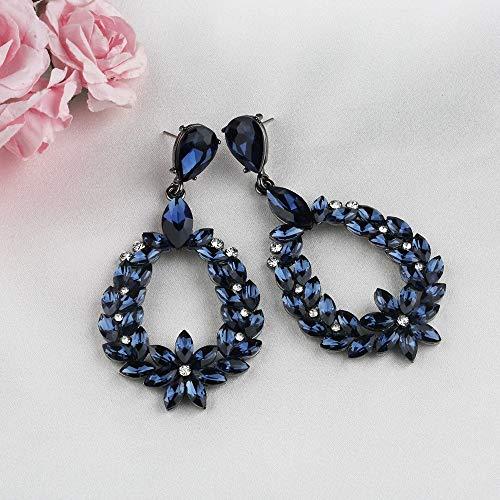 YouBella Stylish Party Wear Jewellery Silver Plated Drop Earrings for Women (Blue)(YBEAR_31659)
