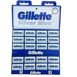100 Cuchillas de afeitar Gillette Silver Blue