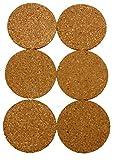 wns-emg-world Glasuntersetzer Getränke Topf Untersetzer Set 10cm Durchmesser aus Kork 6 teilig rund