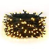 MeeQee LED-Leuchten String 33ft 100 Lights Lampe für Weihnachtsbaum Urlaub Hochzeit Dekoration Halloween Schaufenster Displays Restaurant oder Bar und Hausgarten Hochzeit - Steuern Sie bis zu 8 Modi