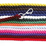 Hy Lead Rope (choose from colours yellow, baby blue, baby pink, electric pink, orange, royal, red or brown) - featuring high quality wednesbury clip