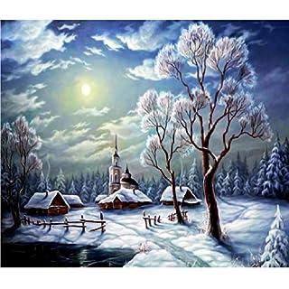 Amazingdeal365 Full Drill Snow Scene 5D Diamond DIY Painting Craft Home Decor