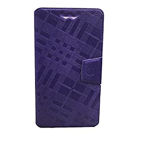 Jo Jo Krish Series Leather Pouch Flip Case With Silicon Holder For S7 Purple