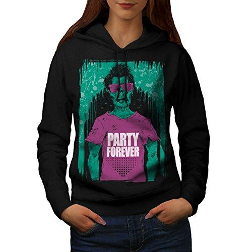 wellcoda Party Für Immer Frau Kapuzenpullover Zombie Beiläufiges mit Kapuze Sweatshirt