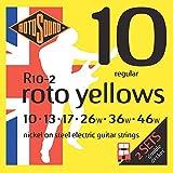 Rotosound R10-2 Cordes pour guitare électrique Nickel Regular Gauge Double (10 13 17 26 36 46)