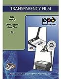 PPD DIN A4 Inkjet Transparentfolie OHP Overheadfolie für Tintenstrahldrucker mit Sensorstreifen DIN A4 x 50 Blatt OHPA4-50