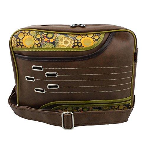 Superfreak® Tasche 70s Up Umhängetasche Serie S-7041, alle Muster!!! brown