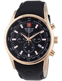 Hanowa Swiss Military  06-4156.09.007 - Reloj de cuarzo para hombre, con correa de cuero, color negro