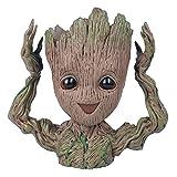 Roxnic Cute Baby G-Root Tree Man Maceta Ecológico Resina Plant Pot Maceta Transpirable No fácilmente deformado Crecer Jardinera Maceta Artificial Figuras de acción Hero Modelo Toy Pen Pot Los Mejores