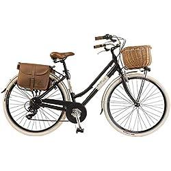 Vélo Citybike Byciclette CTB Femme Dame Vintage Retro Via Veneto Aluminium Noir