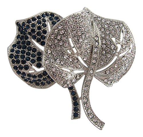 Brooch Boutique-Spilla Foglia di giglio doppia placcata argento spilla bouquet matrimonio Broach