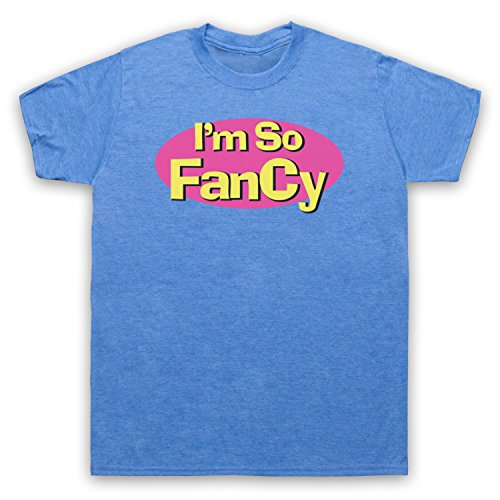 I'm So Fancy Slogan Herren T-Shirt Jahrgang Blau