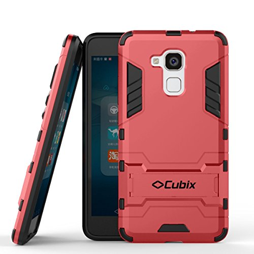 Quicksand Cubix Robot Case For Huawei Honor 5C Case Back Cover Warrior Hybrid Defender Bumper Shock Proof Case Armor Cover With Stand For Huawei Honor 5C Red  available at amazon for Rs.398