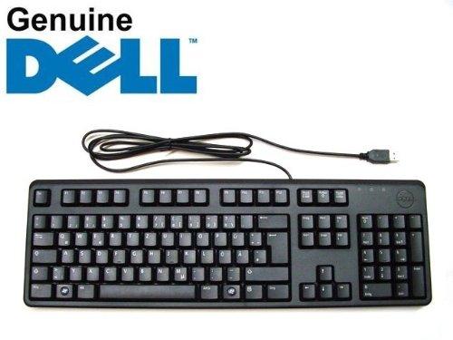 Dell Tastatur (Dell 80MH7 / 6RDXP / Y74NK / C648N Tastatur, deutsches Layout QWERTZ, USB, flach, Originalprodukt, Schwarz)