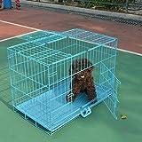 QNMM Gabbia Pieghevole Per Animali Domestici Piccola E Media Recinzione Per Cani In Metallo Animali Domestici Cassetta Di Trasporto In Metallo Adatta Per Animali Di Piccola E Media Taglia
