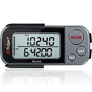 514A9FIZMeL. SS300  - Realalt 3DTriSport 3D Pedometer, Accurate Step Counter with Clip and Strap