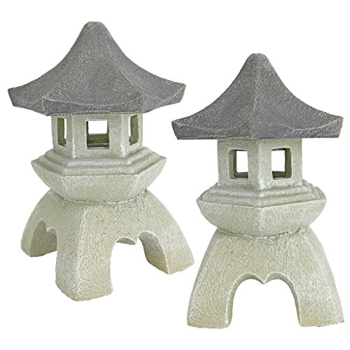 Design Toscano Asian Pagoda Statues Medium - Set of 2