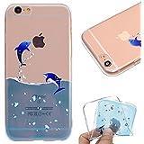 9907916d0a6 Funda iPhone 7 Plus / iphone 8 Plus Delfín Diseño Protección Suave  Transparente TPU Gel Silicona