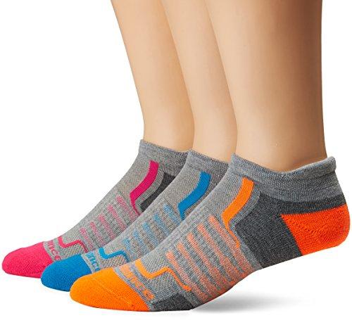 New Balance Damen Performance Low Cut Tab- 3 Pairs Socken, Light Dark Grey/Blue/Pink/Orange, Medium -