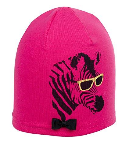 d-generation Mädchen Mütze Bohomütze Jersey, Rosa (Raspberry pink 2137), (Herstellergröße: 55)