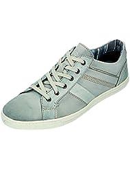 Klondike - Zapatos de cordones para hombre Blanco gris