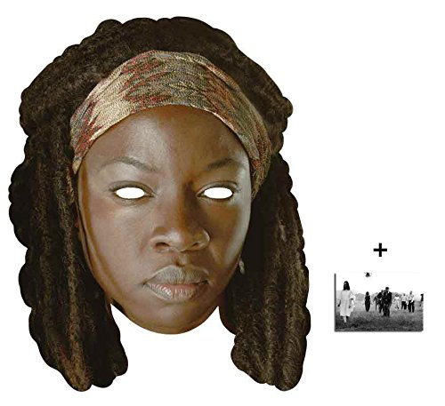 Michonne The Walking Dead Single Karte Partei Gesichtsmasken (Maske) Enthält 6X4 (15X10Cm) (Walking Dead Kostüm Einfach)