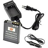 DSTE Repuesto Batería y DC03E Viaje Cargador kit para Nikon EN-EL12 Coolpix P300 P310 P330 P340 S31 S70 S610 S620 S630 S640 S800c S1000pj S1100pj S1200pj S6000 S6100 S6150 S6200 S6300 S8000 S8100