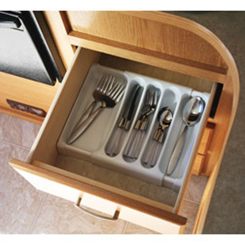 Camco 43503 RV Adjustable Cutlery Tray (White), Garden, Lawn, Maintenance
