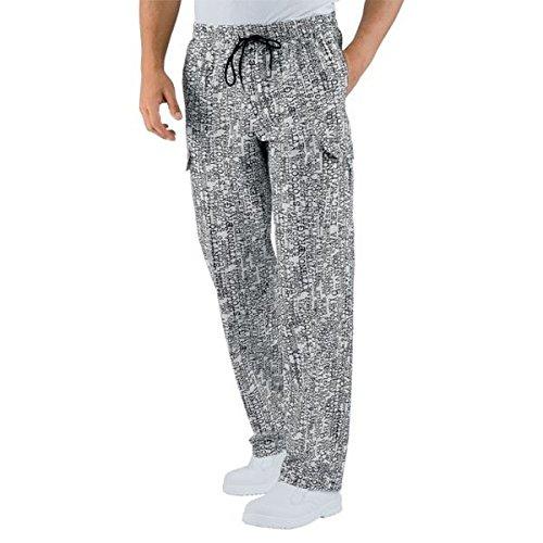 ATELIER DEL RICAMO - Pantalón de Cocinero - Hombre Negro S