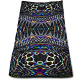 Nifdhkw Psychedelic Trippy Picture Microfiber Lightweight Soft Fast Drying for Gym Beach Travel Fitness Exercise Yoga