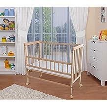 WALDIN Cuna colecho para bebé, cuna para bebé, altura regulable, natural sin tratamientos