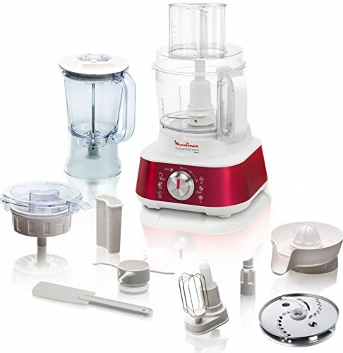 Moulinex Masterchef 8000 1000W 3L Red food processor - Food Processors (3 L, Red, Rotary, Stainless steel, 1000 W)
