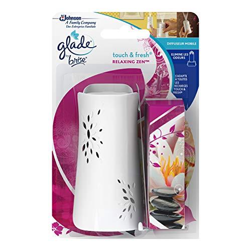 Glade By Brise Désodorisant, Fraîcheur dans la Maison, Élimination des Odeurs, Recharge Incluse (10 ml), Senteur Relaxing Zen, Touch & Fresh