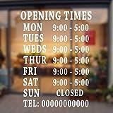 Waofe Personalisierte Bar Club Pub Büro Salon Barber Shop Öffnungszeiten Wandtattoo Aufkleber Abnehmbare Schaufenster Zeichen Aufkleber 42 * 57 Cm