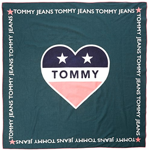Tommy Hilfiger Damen Schal Thd Tommy Loves ME Scarf, Grün (Sea Moss 323), One Size