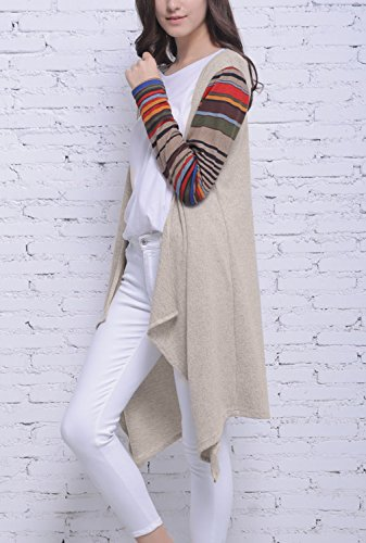 Blooming Jelly Femme Gilet Pull Manteau Femme Chaud Tricot Manche Longue Knitwear Outwear Sweater Basique Casual Cardigan Multicolore