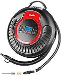 Oasser Gonfleur Electrique Pompe à Air sans Fil Compresseur Voiture à Batterie au Lithium Intégrée de 2000mAh 12V 120PSI avec...