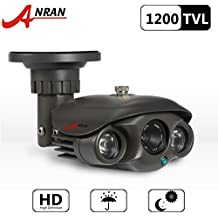 ANRAN 1200TVL Telecamera di sorveglianza a circuito chiuso, impermeabile, per sicurezza in esterni, con sensore SONY IMX138 CMOS ad alta risoluzione, serie 2, a lungo raggio, con visione diurna e notturna a colori e ad infrarossi