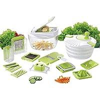 Coninx Cucina Cortador de frutas y verduras con hoja intercambiable, rallador de verduras, patatas