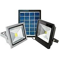 Tempo di Saldi - Faro LED SMD con panel solar para exterior, luz Fría 2 W IP65