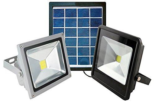 Nuevo foco LED con alimentación solar ideal para iluminar sin consumo de energía. El panel solar con el cable alargador de 5Meter con conectores impermeables foco permite posicionar el distante del panel solar para obtener la máxima flexibilidad de ...
