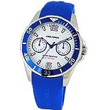 Time Force TF4110B13 - Reloj cadete con correa de caucho para niños, color blanco / gris