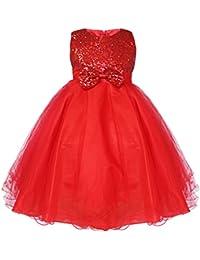 iiniim Niñas Vestido de Princesa sin Mangas Vestido de Boda de Fiesta Cumpleaños Vestidos con Brillante Lentejuelas para Niñas 2-14 Años