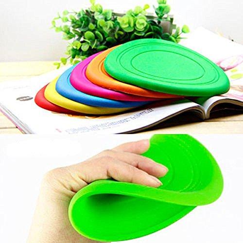 Nikgic - Disco volador de silicona suave para perro, frisbee, juguete para mascota, juguete volador de disco de frisbee para entrenamiento de perro